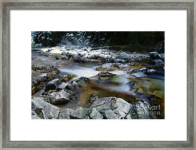 The Trotting Song Of Small Rapids  Framed Print by Jeff Swan