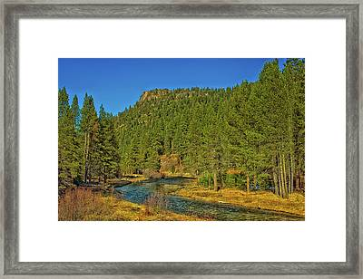The Truckee River Framed Print by Mountain Dreams