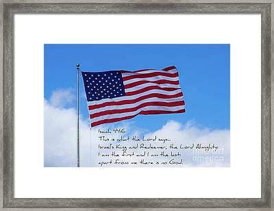 The True King American Flag Art Framed Print
