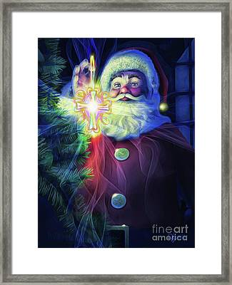 Framed Print featuring the painting The True Spirit Of Christmas - Bright by Dave Luebbert