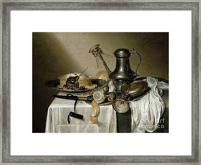 The Truffle Pie Framed Print by Maerten Boelema de Stomme