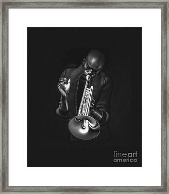The Trumpet Player Framed Print