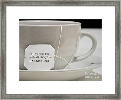 The Truth About Tea Framed Print