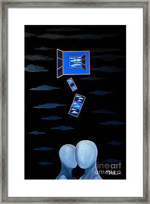 The Truth Is We Don't Know The Truth Framed Print by Fei A