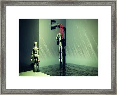 The Truthsayer Meets Denial Framed Print