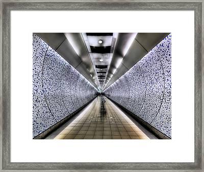 The Tube Framed Print by Evelina Kremsdorf