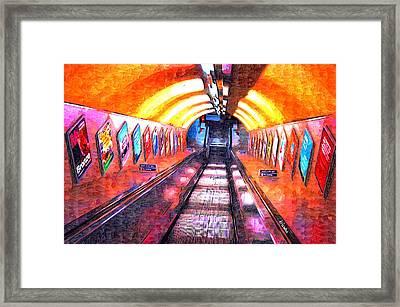 The Tube Framed Print