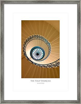 Framed Print featuring the digital art The Tulip Staircase by Julian Perry