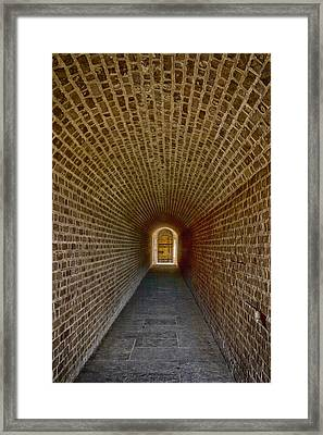 Framed Print featuring the photograph The Tunnels Of Fort Clinch by Paula Porterfield-Izzo