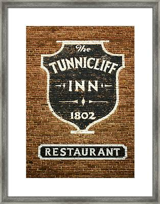The Tunnicliff Inn - Cooperstown Framed Print by Stephen Stookey