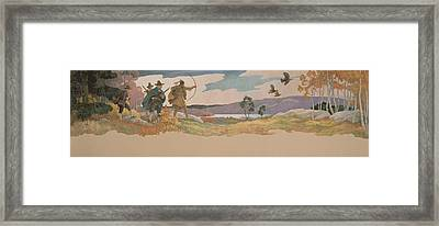 The Turkey Hunters Framed Print