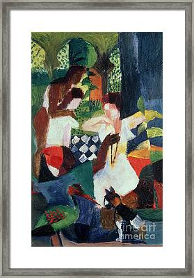 The Turkish Jeweller  Framed Print by August Macke