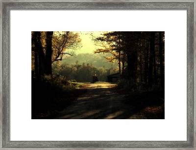 The Turn In The Road Framed Print