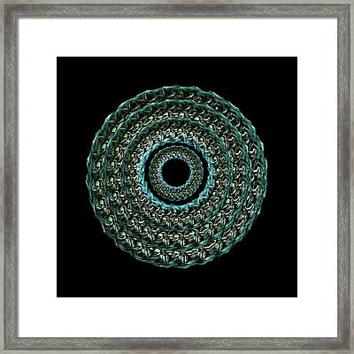 The Turqoise And Teal Infinity Of Rose Framed Print by Jacqueline Migell
