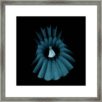 The Turquoise Dream Circle Of Wise Women Framed Print by Jacqueline Migell