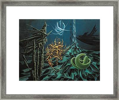 The Turquoise Night Framed Print by Charles Cater