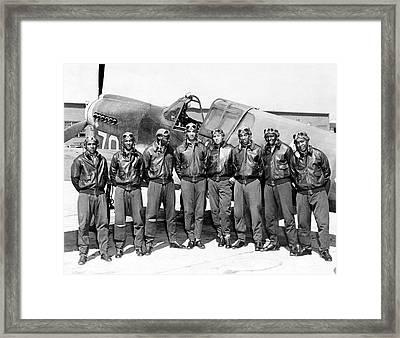The Tuskegee Airmen Circa 1943 Framed Print