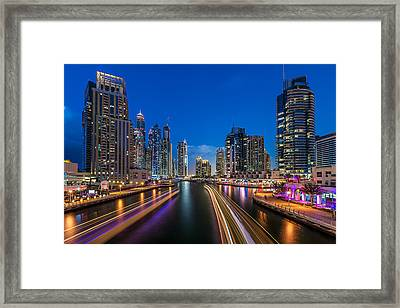 The Twilights Dubai Framed Print by Vinaya Mohan
