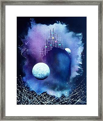 The Twin Moons Framed Print by Lee Pantas