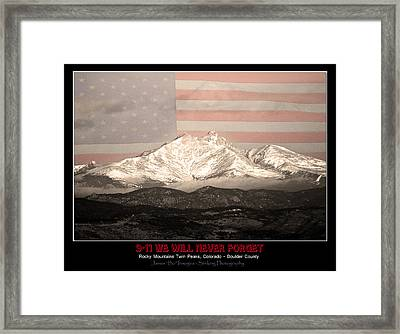 The Twin Peaks - 9-11 Tribute -poster Framed Print by James BO  Insogna
