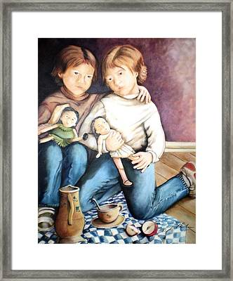 The Twins - Les Jumelles Framed Print
