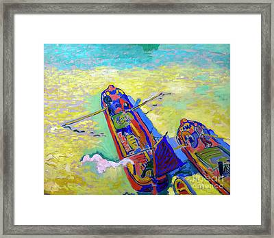 The Two Barges, Les Deux Peniches, By Andre Derain, 1906, Centre Framed Print by Peter Barritt