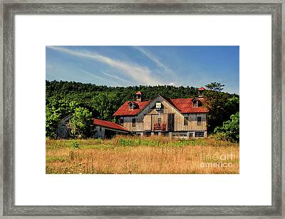 The Two Cupola Barn Framed Print