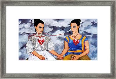 The Two Delevingnes Framed Print