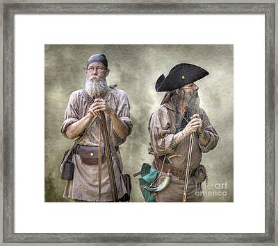 The Two Frontiersmen  Framed Print
