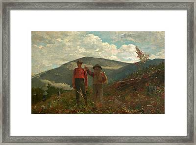 The Two Guides Framed Print by Winslow Homer