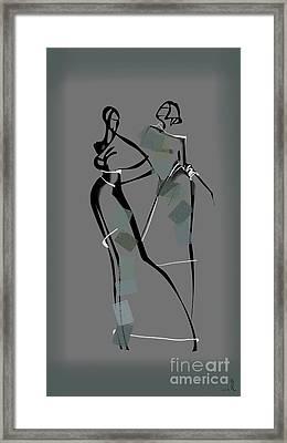 The Two Models Framed Print