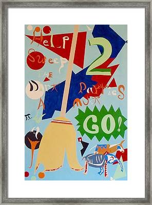 The Two Party System Framed Print by Troy Thomas
