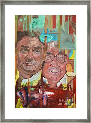 The Two Ronnies Framed Print by James Lavott