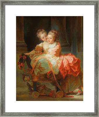 The Two Sisters                                   Framed Print by Jean Claude Richard