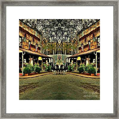 The Two Timers Saloon  Framed Print