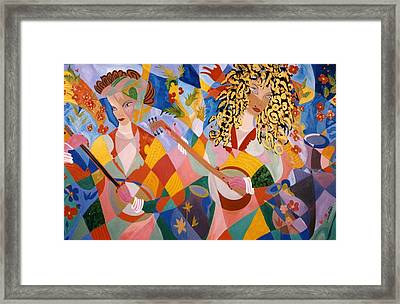 The Two Women Musicians Framed Print
