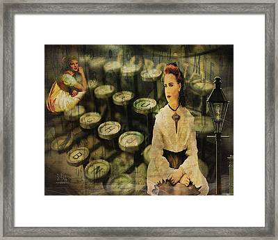 The Typist Framed Print
