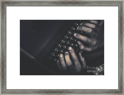 The Typist. The Key Strokes. The Pressing Details Framed Print by Jorgo Photography - Wall Art Gallery