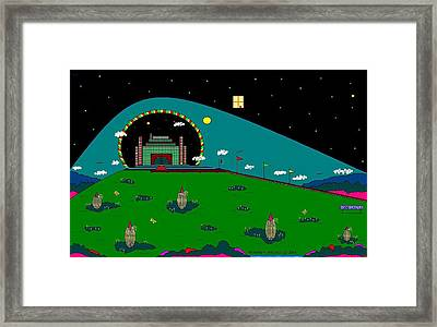 The U-no-krons Of Kobb Castle. Framed Print by Richard Magin