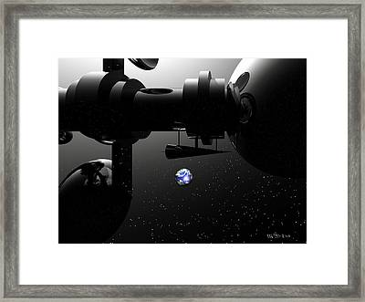 The United Earth Federation Starship Carl Sagan 2 Framed Print by Walter Oliver Neal