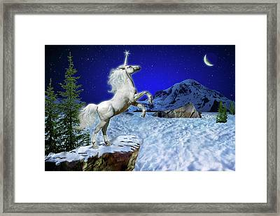 The Ultimate Return Of Unicorn  Framed Print by William Lee
