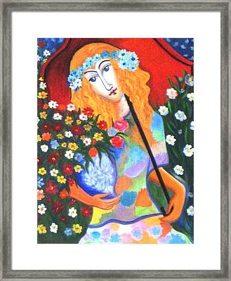 The Umbrella Girl Framed Print