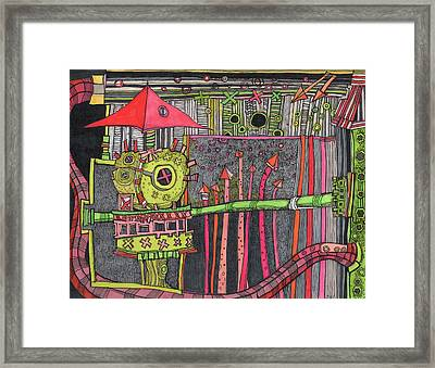 The Umbrella Roof Framed Print