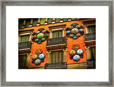 The Umbrella Shop Framed Print