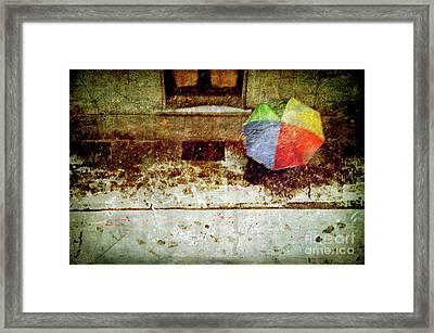 The Umbrella Framed Print by Silvia Ganora