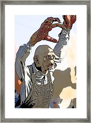 The Undead Farmer Framed Print by Christopher Purcell
