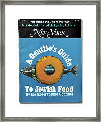 The Underground Gourmet Guide To Jewish Food Framed Print