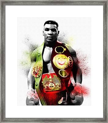 The Undisputed Heavyweight Champion Of The World Framed Print by Diana Van