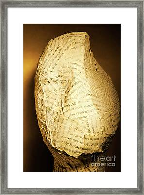 The Unfinished Story Framed Print