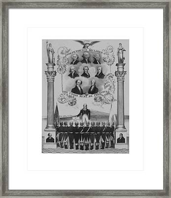 The Union Must Be Preserved Framed Print
